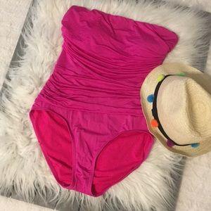 Merona pink bathing suit